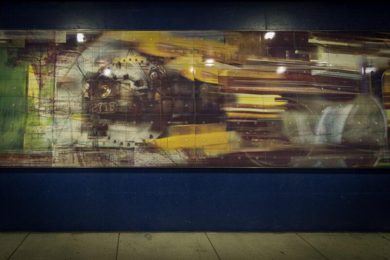 Public art, Trainscape Mural