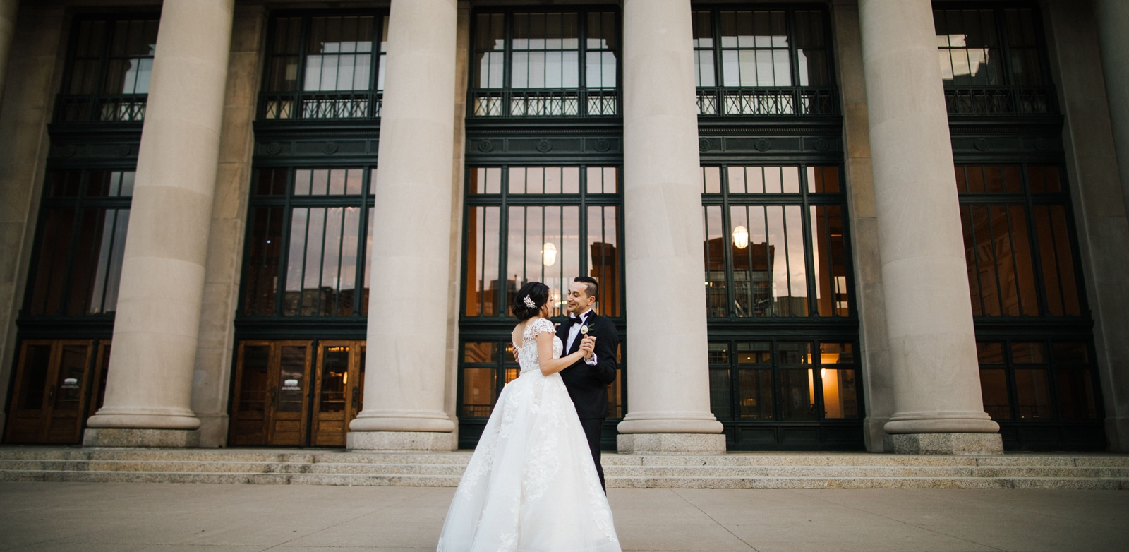 Wedding in front of Union Depot