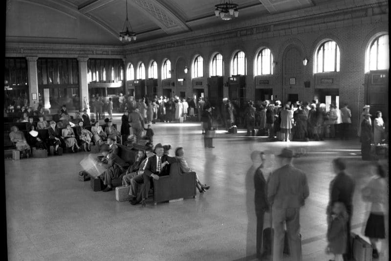 Historic photo of Union Depot's Waiting room