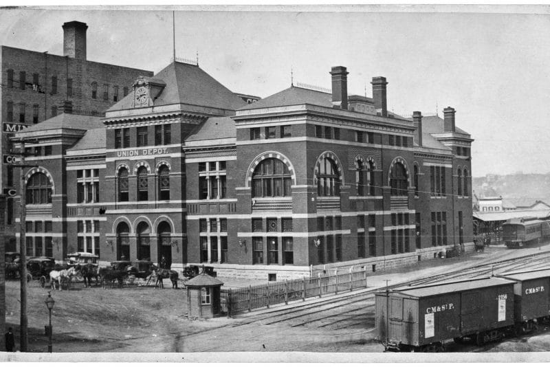 Historic photo of Union Depot outside