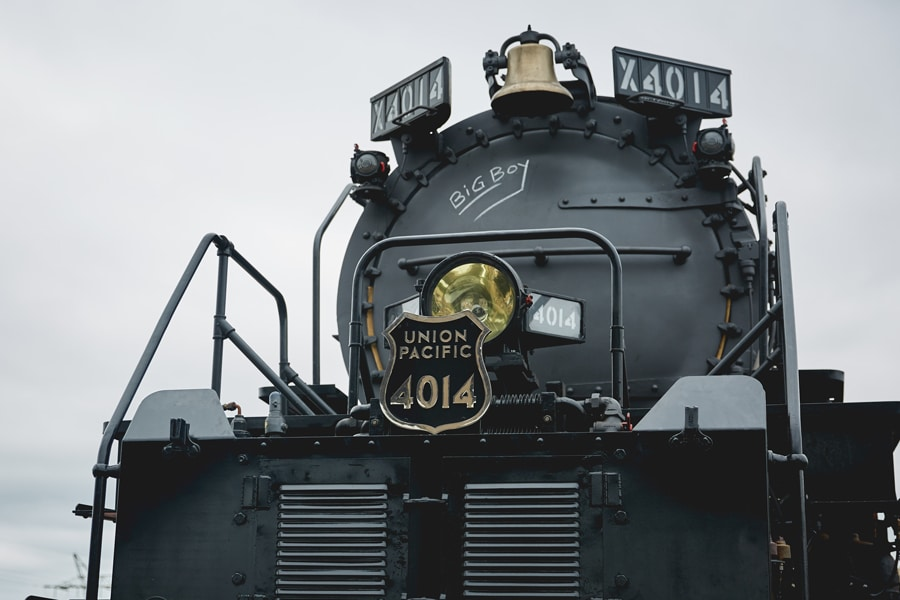 Close up shot of Big Boy Train