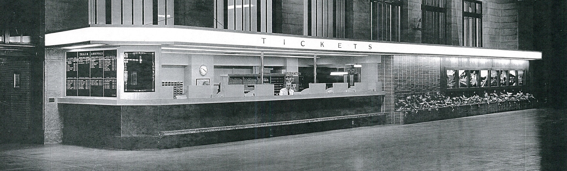 Historic photo of Union Depot's old ticket booth