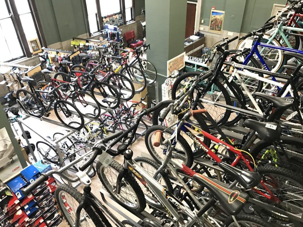 Bikes in a bike shop